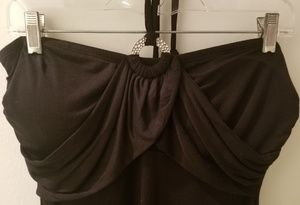 NWT Dotti Black Halter Style Cover Up (M)